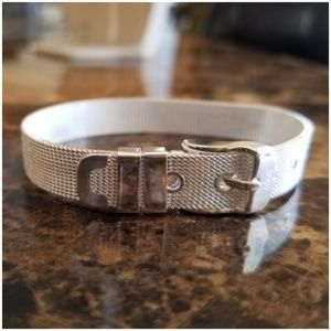 Jewelry - Beautiful Sterling Silver Belt Design Bracelet 8.5
